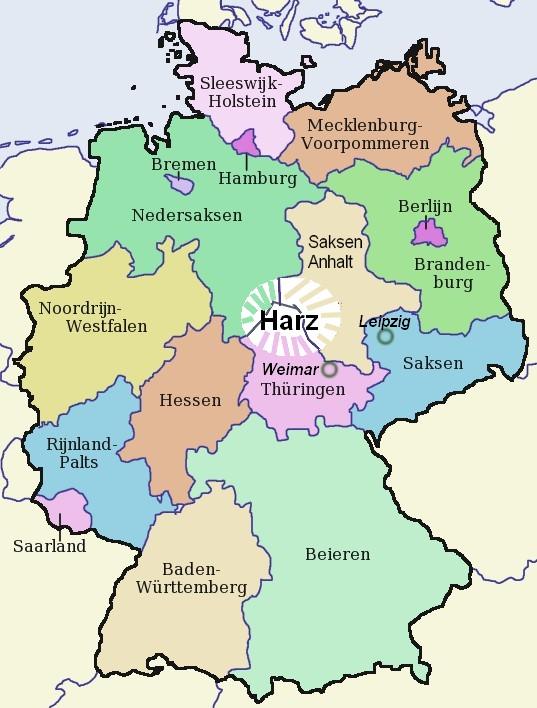 Harz, vakantie augustus 2014